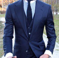 Classic blue 3 piece suit