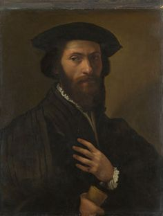 A Bearded Man  about 1527-8, Italian, Florentine