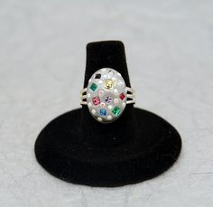 Colorful Confetti  One of a kind Swarovski crystal by MoonBubbles, $15.00
