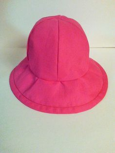 Girl's Pink Sun Hat by SewDangKewl on Etsy