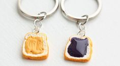 These #keychains for #foodies keep #PeanutButter and #jelly sandwiches within your reach at all times - http://www.finedininglovers.com/blog/curious-bites/it-s-peanut-butter-jelly-keychain-time/