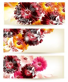 Cool Vector Flower Banners Templates