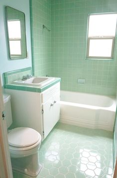 The color green in kitchen and bathroom sinks tubs and toilets - from 1928 to 1962 - Retro Renovation