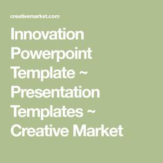 Innovation Powerpoint Template ~ Presentation Templates ~ Creative Market