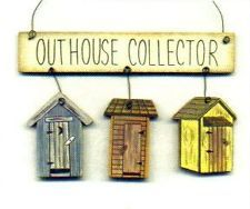 free primitive images to paint on wood | Country Primitive Wood OUTHOUSE Bathroom Sign Ornament Rustic Bath ...