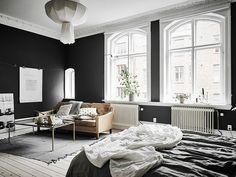 Stue og soveværelse i samme rum