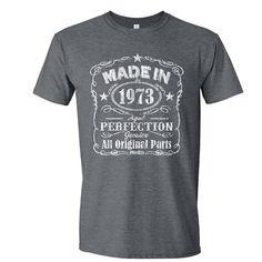 43nd Birthday birthday gifts birthday shirt 1973 by ListonsWorld