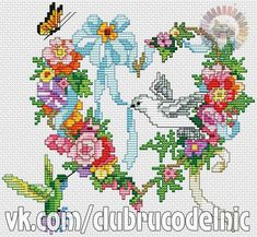 VK is the largest European social network with more than 100 million active users. Cross Stitch Heart, Cross Stitch Cards, Cross Stitch Animals, Cross Stitch Flowers, Christmas Embroidery Patterns, Embroidery Patterns Free, Counted Cross Stitch Patterns, Embroidery Stitches, Bargello