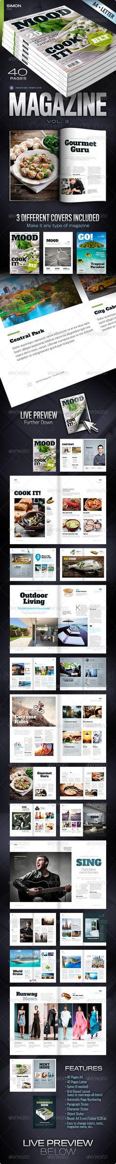 InDesign Magazine Vol. 3  Template • Only available here ➝ http://graphicriver.net/item/magazine-vol-3/5128301?ref=pxcr