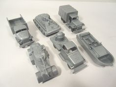 MARX MILITARY LOADS RR LOAD OR PLAYSET 6-PC SILVER O-GAUGE #X4861