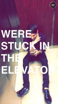 Mitch on the floor
