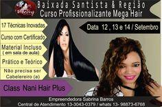 Fala galera do Bem! Em Setembro estarei em São Paulo nestas datas! Em breve divulgo proximas data para São Paulo (Osasco -SP). .... . ....E para você (Olho Grande ) Vai trabalhar ao invés de fica de olho no me Facebook para Pegar os contatos de  (Meus Contratantes) . Para mandar mensagem Ligar e oferecer seus Produtos Cursos a Preço de Banana.  . #cursosp #cursosaopaulo #cursodepeucas  #adoro #cursomegahair #cursomegahaircopacabana #megahairsp #nanihairplus #cursodesucesso…