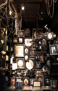 Kind of looks like my living room wall only with gaps and figurines ontop of some frames - Antonia <3