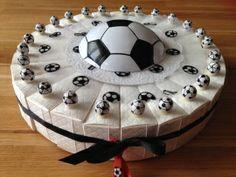 communie voetbal taart incl topper.