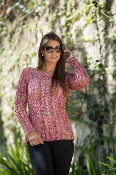 Blusa Mesclada Decote Canoa – Fio Cisne Show