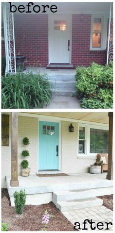 Transition the look of a home by updating a porch. Curb Appeal Hacks and Tips - Frugal Home Ideas to Increase Your Home Value. Update the appearance for your home for little expense on Frugal Coupon Living.