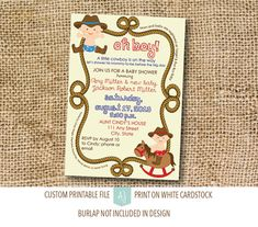 Baby Shower Invitation with Personalization! How this listing works:  1) Purchase this listing.  2) Please include the following information in
