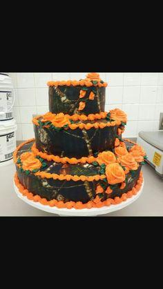 Orange camo cake