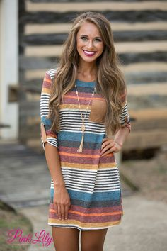 Glowing Fondness Striped Dress