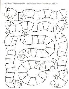 123 Manía: actividades de matemática para imprimir, resolver y colorear - Betiana 1 - Álbuns da web do Picasa Preschool Writing, Numbers Preschool, Math Numbers, Preschool Worksheets, Preschool Learning, Kindergarten Math, Math Resources, Classroom Activities, Fun Learning