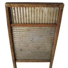 Create your own homemade washboard for environmentally friendly washing.