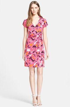 Diane von Furstenberg 'Jilda Two' Floral Print Silk Wrap Dress available at #Nordstrom