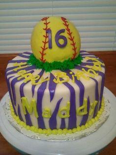 Softball Cakes For Birthdays