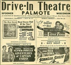 1952... O' how I loved the drive-in...