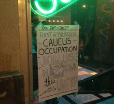Occupy the caucus poster