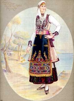 Greek Traditional Dress, Traditional Fashion, Traditional Outfits, Folk Costume, Gypsy Costume, Ancient Greek Costumes, Greek Dancing, Contemporary Decorative Art, Greek Royalty