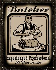 BUTCHER STEAK HOUSE SIGN meat beef deli  VINTAGE retroKITCHEN wall decor art