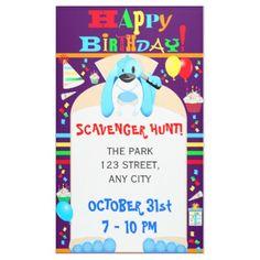 Dog Detective Happy Birthday Scavenger Hunt Party Banner - birthday gifts party celebration custom gift ideas diy