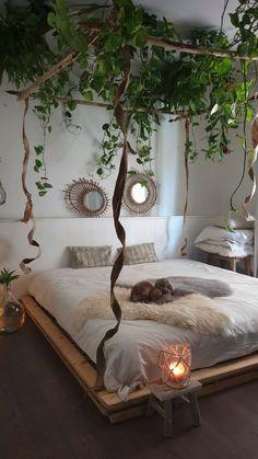 Room Design Bedroom, Room Ideas Bedroom, Home Room Design, Small Room Bedroom, Diy Bedroom Decor, Bedroom Plants Decor, Cozy Bedroom, Dream Rooms, Dream Bedroom