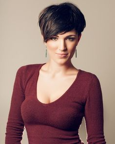 Pixie with bangs.