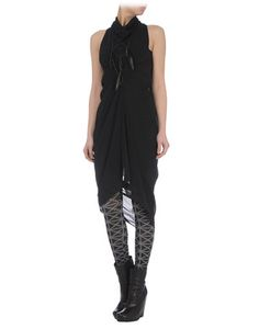 Rick Owens dress... love the tights and boots combo