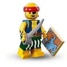 Brick Minifigure Pirate - Scallywag