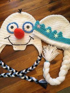 b4ed7c6f5fa Crochet Elsa or Olaf from Frozen. Háčkované Čepičky ...