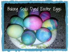 Using Baking Soda to Dye Easter Eggs is so fun, and you already have the ingredients at home. Try these Baking Soda Dyed Easter Eggs this year.
