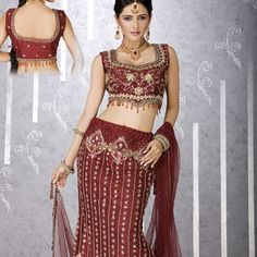 Essence Maroon Art Silk Lehenga Choli with Dupatta