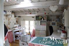 My country nest: Armonia di colori: nuovi cambiamenti in craft room