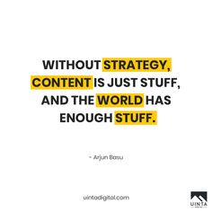 "Start the week, with something more than just ""stuff"". Let's have a chat. Email: info@uintadigital.com Phone: 801-683-1177  --------- #contentmarketing #digitalmarketing #UintaDigital #contentstrategy#socialmedia #agency #creative #teamwork #team #branding #advertising #strategy #planning #socialmediamarketing  #website #market #evolve #social #emailmarketing #contentcreator #contentmarketing#inboundmarketing #influencer #influencermarketing #socialmedia #seo #marketing"