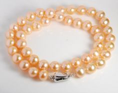 9-10mm genuine fresh water pearl necklace potato by JWbeads