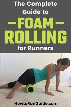 Healthy Living Tips Foam Rolling for Runners - the comprehensive guide! Learn what moves to do, why, and which foam rollers are the best. Jump Rope Workout, Running Workouts, Running Tips, Trail Running, Stretching Workouts, Glute Workouts, Foam Rolling For Runners, Fitness Tips, Fitness Motivation