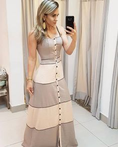 A imagem pode conter: 1 pessoa, em pé Trendy Dresses, Simple Dresses, Cute Dresses, Casual Dresses, Summer Dresses, Dresses Dresses, Casual Shoes, Dress Outfits, Fashion Dresses