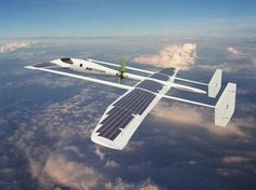Solar powered plane/glider. AWESOME. During the day, it's always sunny above the clouds
