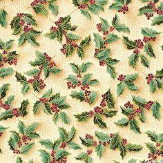 Holiday Flourish 7 - Splendid Holly - Holly Green/Gold