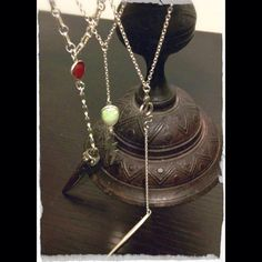 Sneak peek of my new cult lariat necklaces