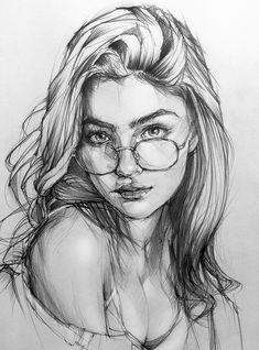 Art Drawings Beautiful, Dark Art Drawings, Pencil Art Drawings, Realistic Drawings, Pencil Sketches Of Faces, Beautiful Sketches, Pencil Portrait Drawing, Portrait Sketches, Portrait Art