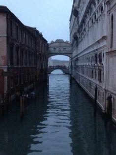 Bridge of Sighs at twilight