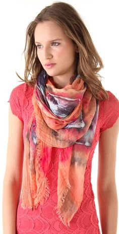 Brightly Twisted Scarves